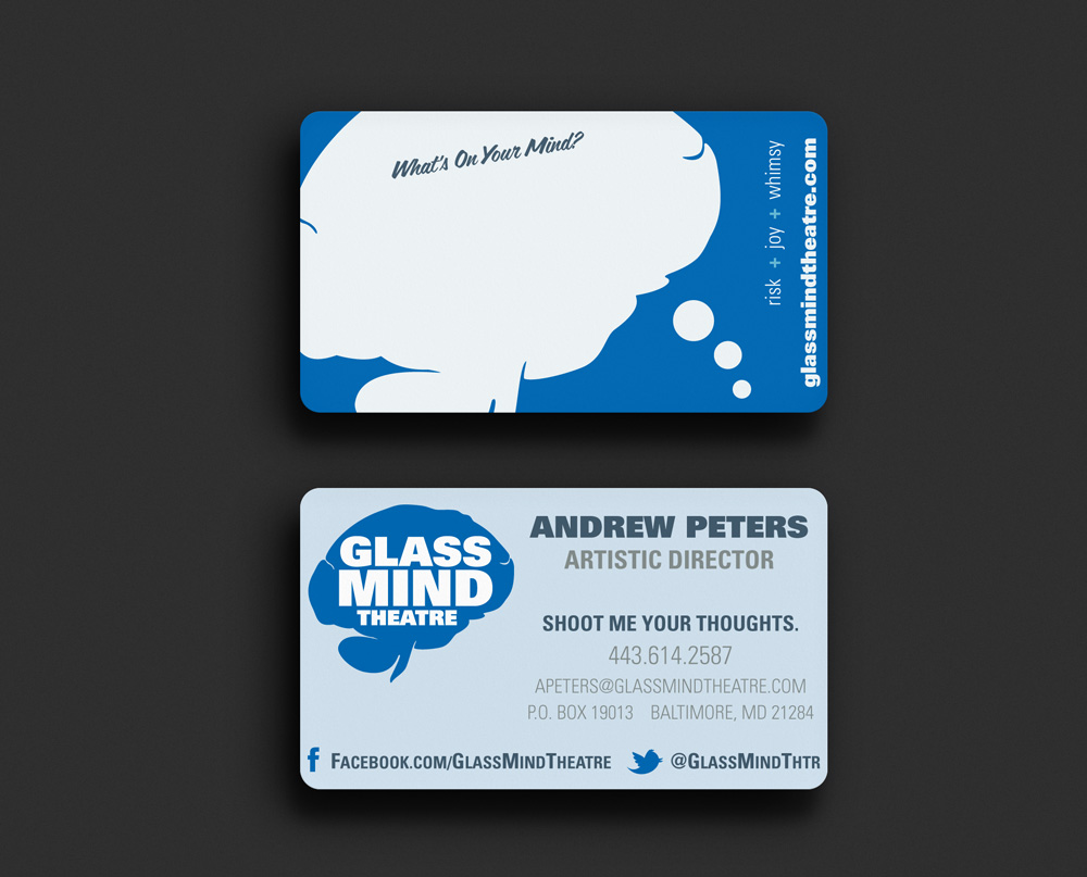 Print and web design andrew peters business card design 2012 client glass mind theatre magicingreecefo Choice Image